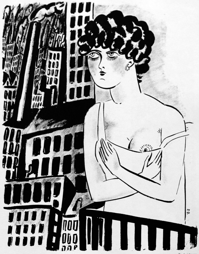 1921_Femme au balcon