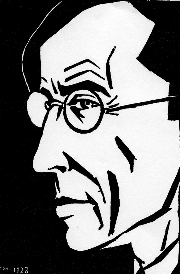 Aa 46, 1923, Portrait de Frans Masereel