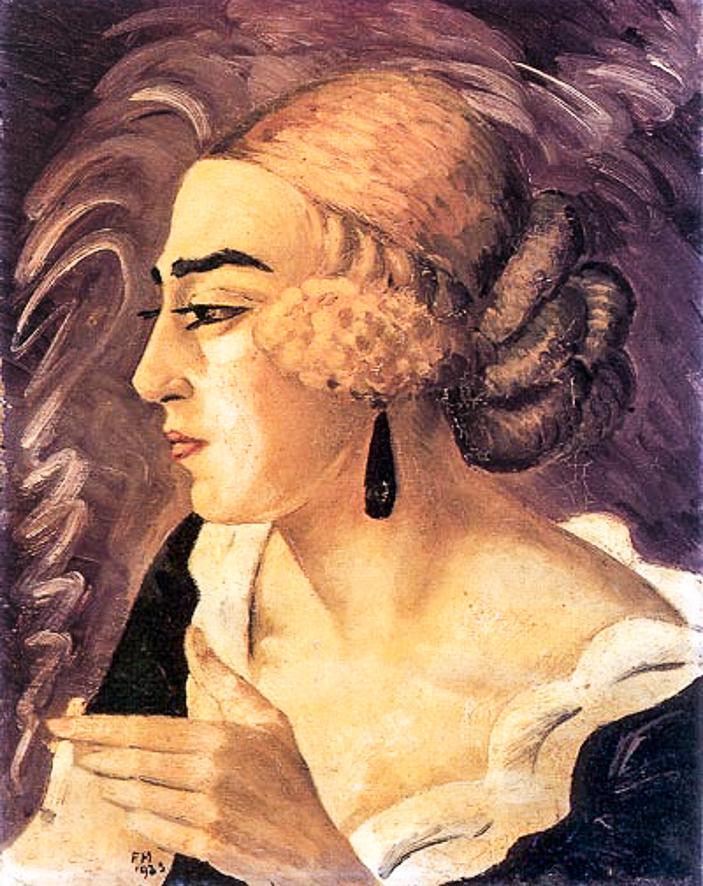 1923_Femme a la cigarette