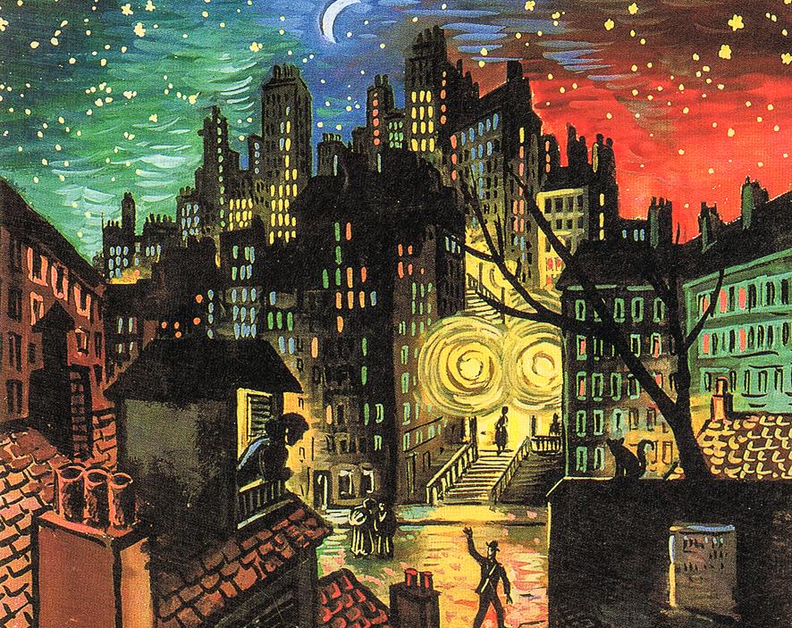 1923_Montmartre, la nuit