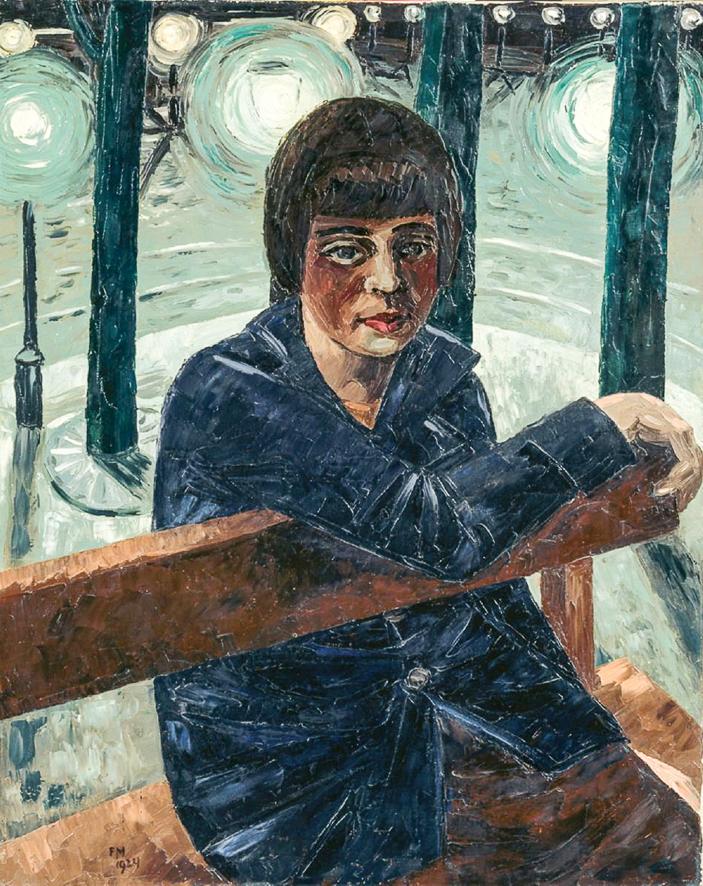 1924_Fille sur un banc