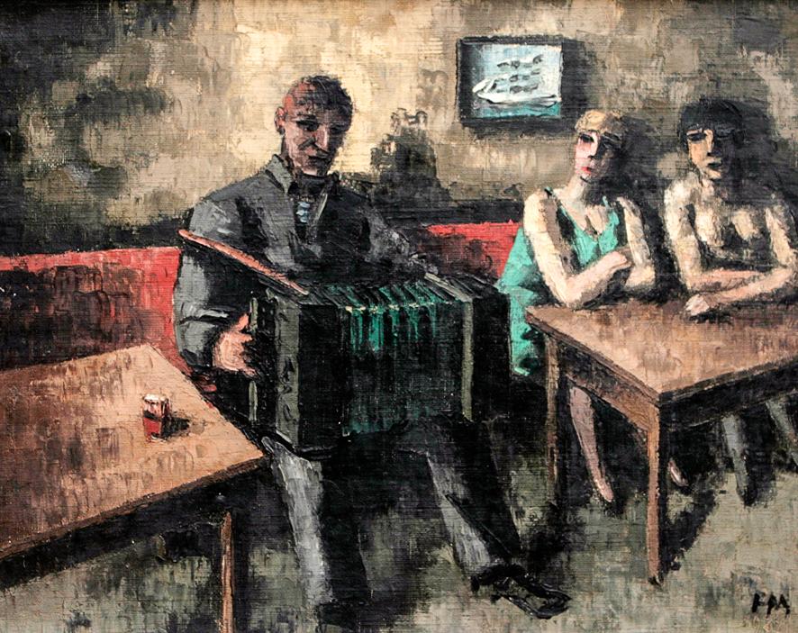 1927_Accordeoniste au cabaret