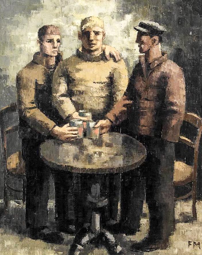 1928_Trois buveurs au cabaret