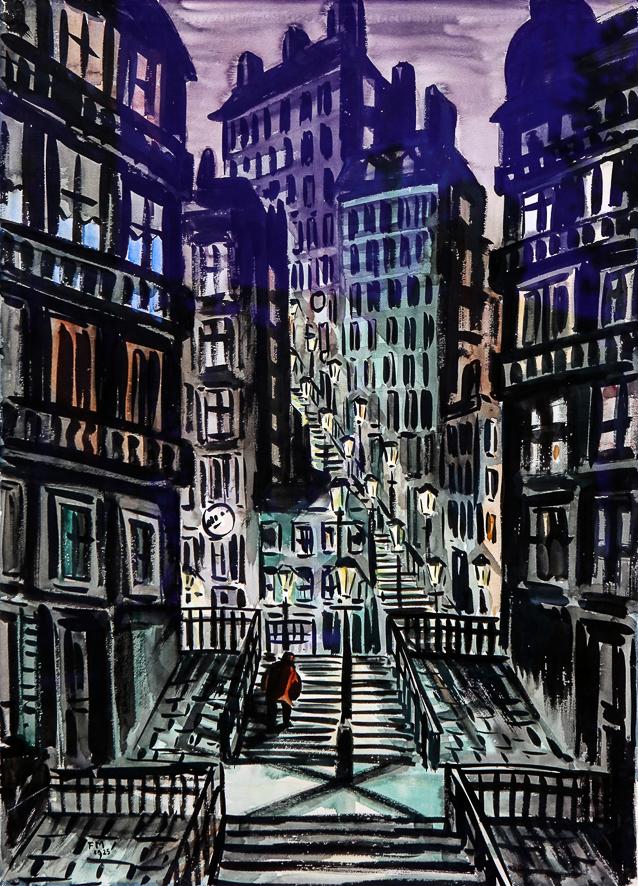 1925_Montmartre la nuit