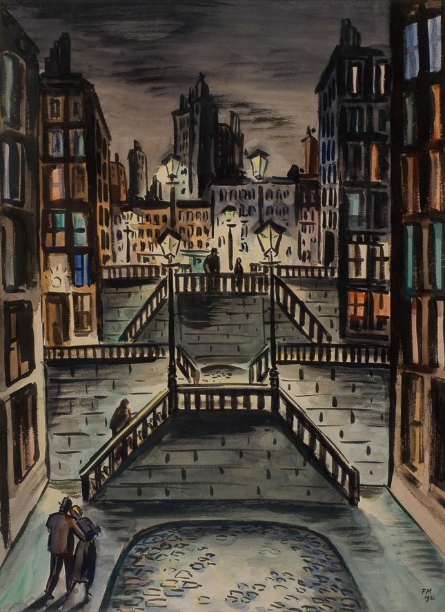 1926_Escaliers aux réverbères_