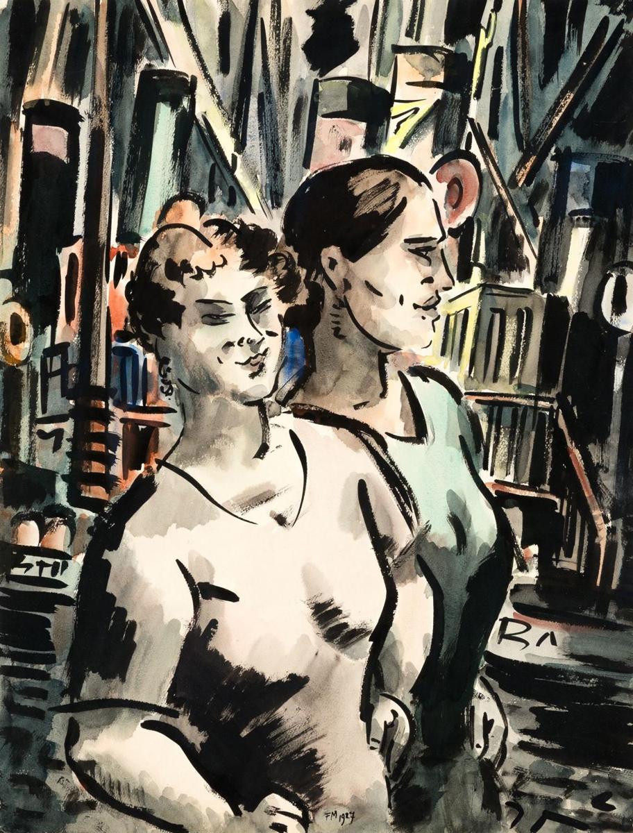 1927_Deux femmes au port