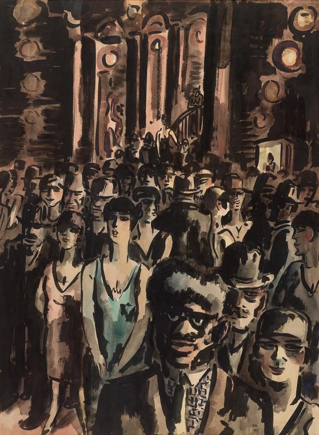 1927_Sortie du théâtre